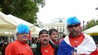 Fanoušci v Bratislavě před utkáním kvalifikace fotbalového MS 2010 Slovensko - Česko