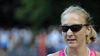 Britská běžkyně Paula Radcliffeová po vítězství v půlmaratónu v New Yorku