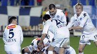 Příliš důvodů k radosti fotbalisté Slovácka v závěru GL nemají - ilustrační foto.