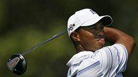 Americký golfista Tiger Woods během druhého kola PGA Championship
