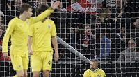 Smutný Tomáš Řepka po gólu Eindhovenu