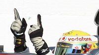 Lewis Hamilton po vítězství ve Velké ceně Maďarska