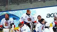 Ilustrační foto: Zklamaní čeští sledge hokejisté po prohře s Japonskem na paralympiádě ve Vancouveru.