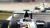 Brazilský jezdec formule 1 Rubens Barrichello z týmu Brawn GP během nedělní Velké ceny Itálie