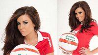 Imogen Thomasová, milenka Ryana Giggse, se v reklamní kampani pro sázkovou kancelář ráda navlékla do dresu Manchesteru United...