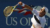 Francouzský tenista Richard Gasquet během utkání proti Rafaelu Nadalovi