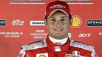 Italský pilot formule 1 Giancarlo Fisichella