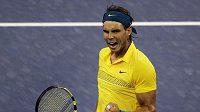 Španělský tenista Rafael Nadal se raduje z postupu na US Open