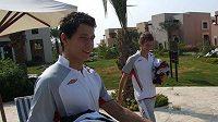 Fotbalisté Slavie Marek Suchý (vpravo) a Michal Švec na soustředění ve Spojených arabských emirátech