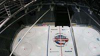 Hokejová O2 Aréna se připravuje na zahajovací zápas NHL v Praze.