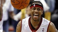 Basketbalista Allen Iverson ještě v dresu v dresu Philadelphie.