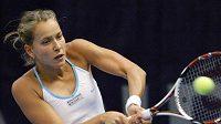 Tenistka Barbora Záhlavová-Strýcová během zápasu proti Izraelce Peerové