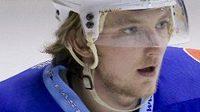 Hokejový obránce Jakub Grof