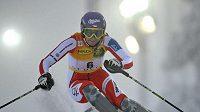 Česká lyžařka Šárka Záhrobská v Levi