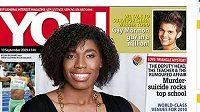 Běžkyně Caster Semenyaová na titulní straně časopisu You