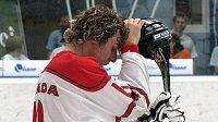 Zklamaný hokejbalista Kanady po čtvrtfinálové prohře s USA