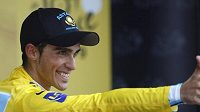Španělský cyklista Alberto Contador ze stáje Astana