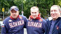 lovenští fanoušci před utkáním se Slovinskem v ulicích Bratislavy