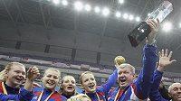 Ruské házenkářky se radují z titulu mistryň světa