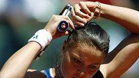 Ruská tenistka Dinara Safinová na French Open