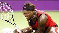 Serena Williamsová během utkání na Turnaji mistryň