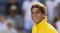 Španělský tenista Rafael Nadal se raduje po vítězství nad Richardem Gasquetem.