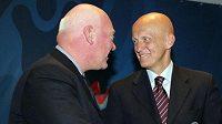 Výkonný ředitel společnosti Hublot Jean-Claude Biver s bývalým italským rozhodčím Collinou