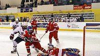 České hokejistky během utkání (ilustrační foto)