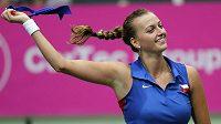 Petra Kvitová získala druhý bod. Češky vedou ve Fed Cupu na Italkami po sobotě 2:0 na zápasy.