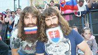 Slovenští hokejoví fanoušci.