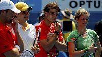 Charitativní akce se mimo jiné zúčastnili Patrick Rafter, Roger Federer, Rafael Nadal nebo Kim Clijstersová (zleva).
