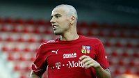 Milan Baroš na tréninku české fotbalové reprezentace