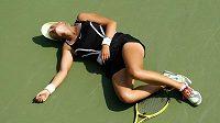 Běloruská tenistka Victoria Azarenková zkolabovala během prvního kola US Open