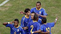 Radost fotbalistů Brazílie