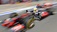 Lewis Hamilton s vozem McLaren