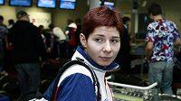 Rychlobruslařka Kateřina Novotná na ruzyňském letišti
