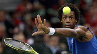 Francouzský tenista Gael Monfils ve finále Davisova poháru