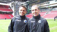 Čeští legionáři v dánských službách Libor Sionko (vlevo) a Zdeněk Pospěch před tréninkem FC Kodaň.