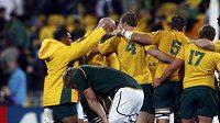 Radost australských ragbistů z postupu přes JAR