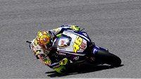 Italský motocyklista Valentino Rossi vyhrál páteční tréninkové jízdy před domácí Grand Prix v Mugellu.