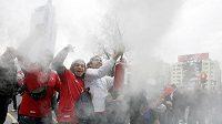 Fanoušci v Chile vítězství svého týmu bouřlivě oslavovali.