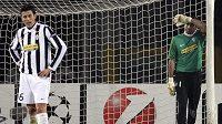 Zklamaný brankář Juventusu Gianluigi Buffon