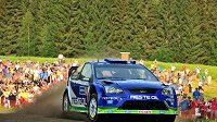 Pilot rallye Juha Kankkunen ve svém Fordu Focus