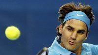 Roger Federer na tenisovém turnaji v Melbourne.