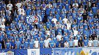 Fotbaloví fanoušci polského klubu Lech Poznaň