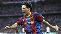 Lionel Messi se raduje ze své branky.
