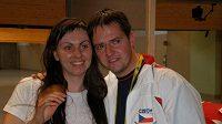 Lenka Marušková s manželem a osobním trenérem Davidem Maruškou byli po závodě hodně smutní.