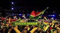 Nadšení návštěvníci zahajovacího koncertu před startem fotbalového MS v Jižní Africe.