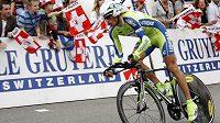Český cyklista Roman Kreuziger během závodu Kolem Švýcarska