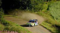 Mikko Hirvonen během Finské rallye